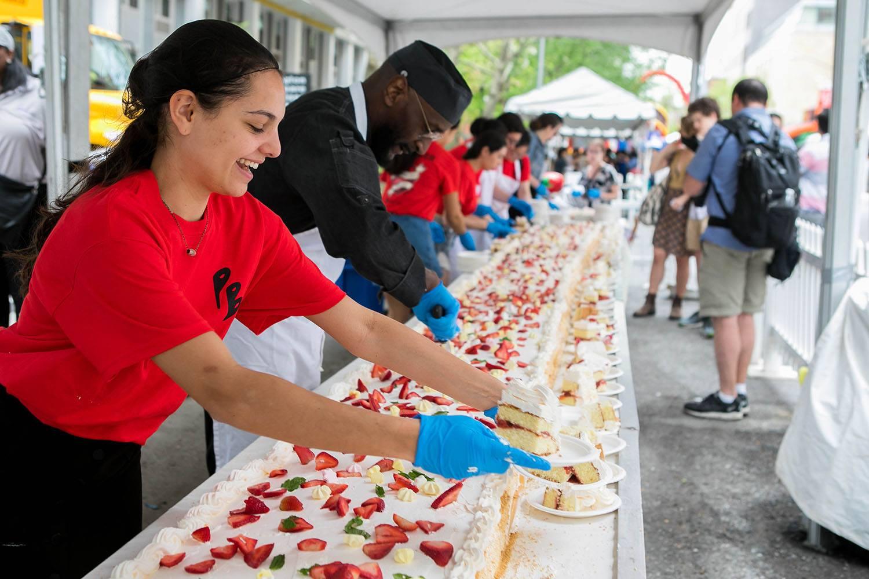 Students at New York University's Strawberry festival
