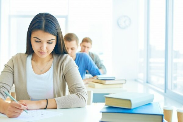Students giving their IELTS for USA