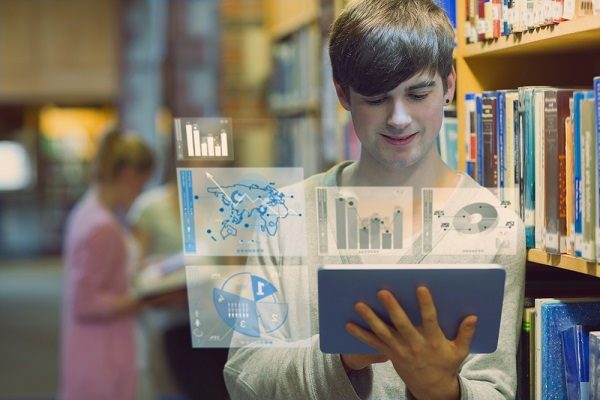 Student using AI in Higher education