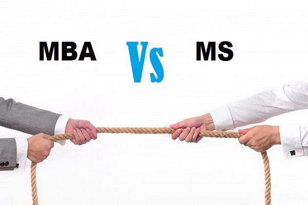 Difference between MS and MBA
