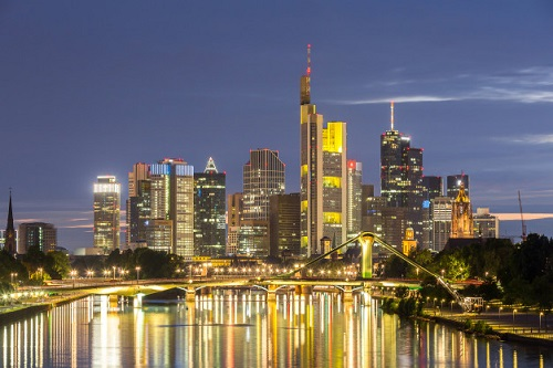 Frankfurt skyline. Study in Germany