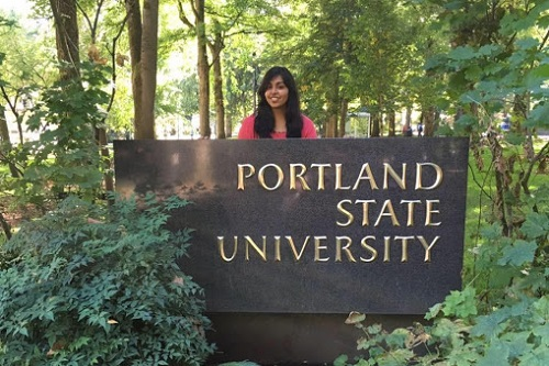 Student in Portland state university