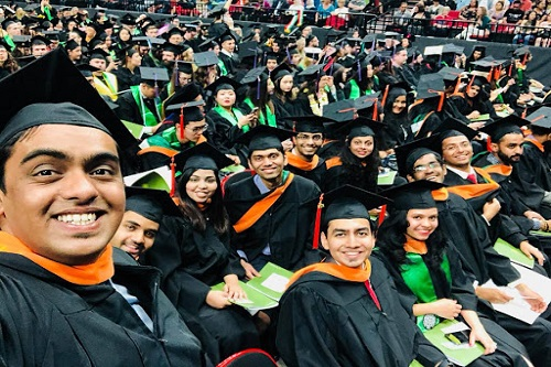 Students graduating from Portland state university